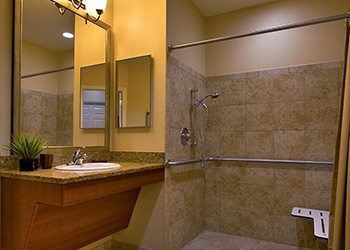 handicapped accessible bathroom