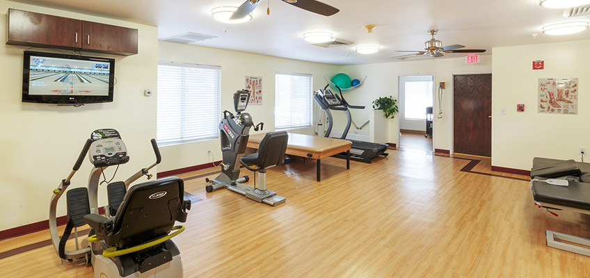 exercise bikes in front of TV
