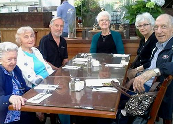 Residents out to dinner together