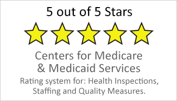 5-star Medicare and Medicaid rated facility button